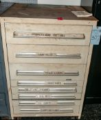 8-Drawer Cabinet w/ Contents, Load Cells, Clamps, Torque Sensors, Etc. See Photos. Does NOT Include