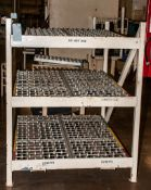 """(6) Incline Wheel Conveyors, double wide x 3 rows tall, On Steel Stand Approx 52""""W x 60 1/2"""" Long"""