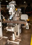 "Bridgeport Mill Power Drive s/n J110951, Machine s/n 12/BR 110300, 9 x 42"" Table 250v 3ph"
