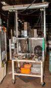 """BTM 5 Ton Press, P-5-H X3"""" TE150 PREL-PRRL, s/n 63433-01 3"""" Stroke, On Rolling Cart"""