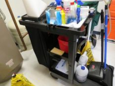 Lot c/o:Contents of Custodial Room- Mop,Buckets & Supplies, Trolley with Contents, Spill Kit, Vacuum