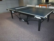 Lot c/o: Stiga Ping Pong Table, Paddles w/Small Table