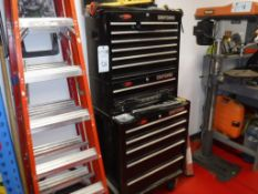 Lot c/o: Craftsman Toolbox-Fluke Tester, Misc. Testing Equip., Files, Screwdrivers, Snips, Drill Bit