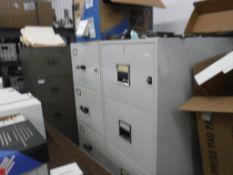 Lot c/o: (2) Fire Fyter 4-Drawer FileCabinets, (2) Meilink 4-Drawer File Cabinets, (2) FireKing File