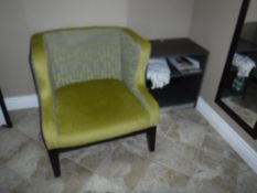 Lot c/o: Mothers Room- Rolling Chair, Arm Chair, Folding Table & Night Stand/Mirror, Contents (No TV