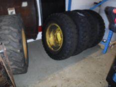 Lot c/o: (5) Skid Steer Snow Tires