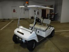 Club Car Electric 2-Seat Golf Cart S/N A9843-708779, (6) Batteries, Canopy, Electric Battery Charger