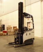 Crown 4,500-LBS. Capacity Model RM6025-45 Electric Stand Up Narrow Aisle Forklift Truck S/N: 1A44950