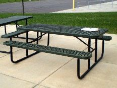 7 Ft Plastic coated Top Picnic Tables