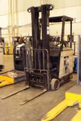 Crown 3,000-LBS. Capacity Model RC3020-30 Electric Stand Up Narrow Aisle Forklift Truck