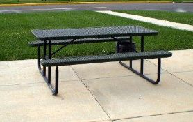 6 Ft Plastic coated Top Picnic Tables