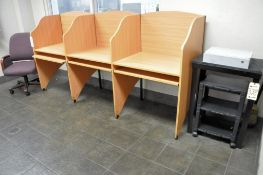 Lot-(1) 3-Station Computer Work System, (1) Chair and (2) Stands in (1) Room