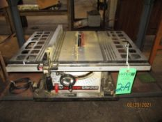 """Skilsaw 10"""" Model 3400 Table Saw S/N 18315, Power Button Does Not Turn Off"""
