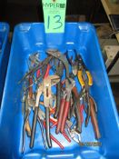 Various Size Channel Locks, Pliers And Cutters