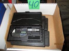 Five Mitutoyo Digital Micrometers