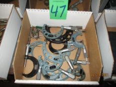 Thirteen Mitutoyo And Starrett Micrometers