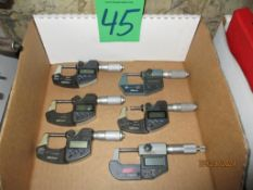 Six Digital Micrometers