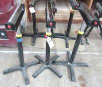 "(3) 15"" Adjustable Roller Stand"