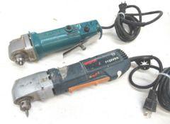 "(2) Makita & Bosch 3/8"" Right Angle Drills"