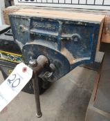 """10-1/2"""" Record 53E Quick Release Woodworking Vise w/ 96""""L x 36""""FB x 35""""H Work Bench, Roller"""