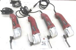 (4) Chicago Electric 21,000 RPM Osillating MultiFunction Power Tool