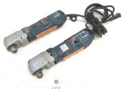 "(2) Bosch No.1132VSR 3/8"" Right Angle Drills"