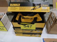 (3) (NEW) DEWALT 8V MAX GYROSCOPIC SCREWDRIVER W/ CONDUIT REAMER