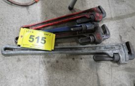 4 ASST'D PIPE WRENCHES