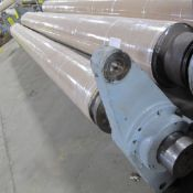 """203""""L X 24"""" DIA. APPROX. ROLLER IN HOUSINGS (GELDERLAND FINSHED) (EAST BUILDING, SOUTH WAREHOUSE)"""