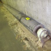 """ROLLER IN HOUSINGS APPROX. 18'L X 14""""DIA. (WEST BUILDING, GROUND LEVEL/BASEMENT UNDER PAPER"""