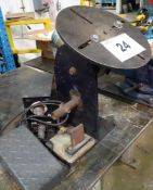 HOBART ELECTRIC POWERED WELDING POSITIONER C/W FOOT CONTROL (RIGGING FEE $80)
