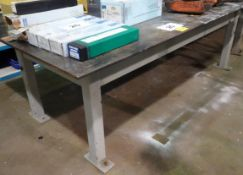 "48"" X 96"" STEEL WORK TABLE (RIGGING FEE $80)"