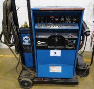 MILLER SYNCROWAVE 351 CC AC/DC WELDING POWER SUPPLY, S/N KF814600 /W MILLER WATERMATE IA COOLING