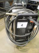 LINDE HYPERTHERM POWERMAX 1650 G3 SERIES PLASMA CUTTER, MOUNTED ON CASTORS, S/N 1650-023464 (MADE
