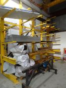 """FREESTANDING CANTILEVER RACKING CONSISTING OF: (5) 16' HIGH UPRIGHTS, 18' WIDE, (30) 54"""" LONG"""