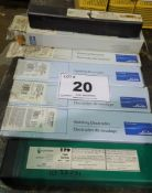 LOT OF (8) PACKS OF LINDE, SOUNOTEC & BLACKSTONE WELDING RODS (RIGGING FEE $10)