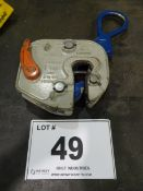 GXL 1 PLATE LIFTING CLAMPS, 1 TON CAPACITY (RIGGING FEE $10)