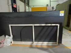 STEEL PLATE STORAGE RACK C/W (19) ASSORTED SHEETS OF S.S. ALUMINUM MILD STEEL & CHECKER PLATE (