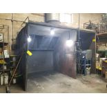 """164"""" x 84"""" x 90"""" OPEN SIDE PAINT BOOTH"""