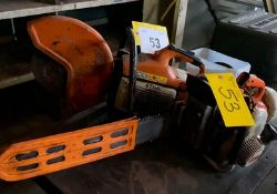 LOT STIHL TS.400 CHOP SAW AND CHAIN SAW