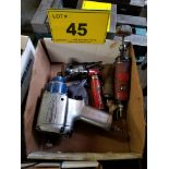 LOT - BLUE POINT PNEUMATIC IMPACT WRENCH W/ ASSORTED SANDING TOOLS