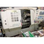 """HAAS HL-2 CNC LATHE, CNC CONTROL, 8"""" 3-JAW CHUCK, TAILSTOCK, TOOL PRESETTER, 10-STATION TURRET, S/"""
