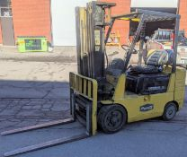 """CATERPILLAR GC25 PROPANE FORKLIFT, 4,700LB CAP., 190"""" MAX LIFT, 3-STAGE MAST, SIDE SHIFT, S/N"""