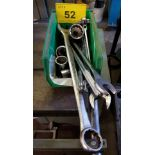 LOT - ASSORTED SOCKETS & OPEN END WRENCHES
