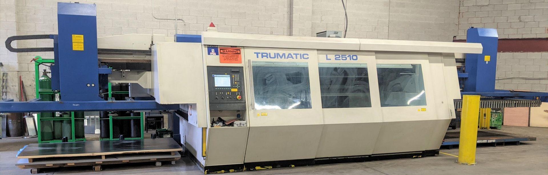 "2006 TRUMPF TRUMATIC L 2510 CNC LASER, 2,000 WATT, 4' X 10' TABLE, TRAVELS: X-120"", Y-50"", Z-"