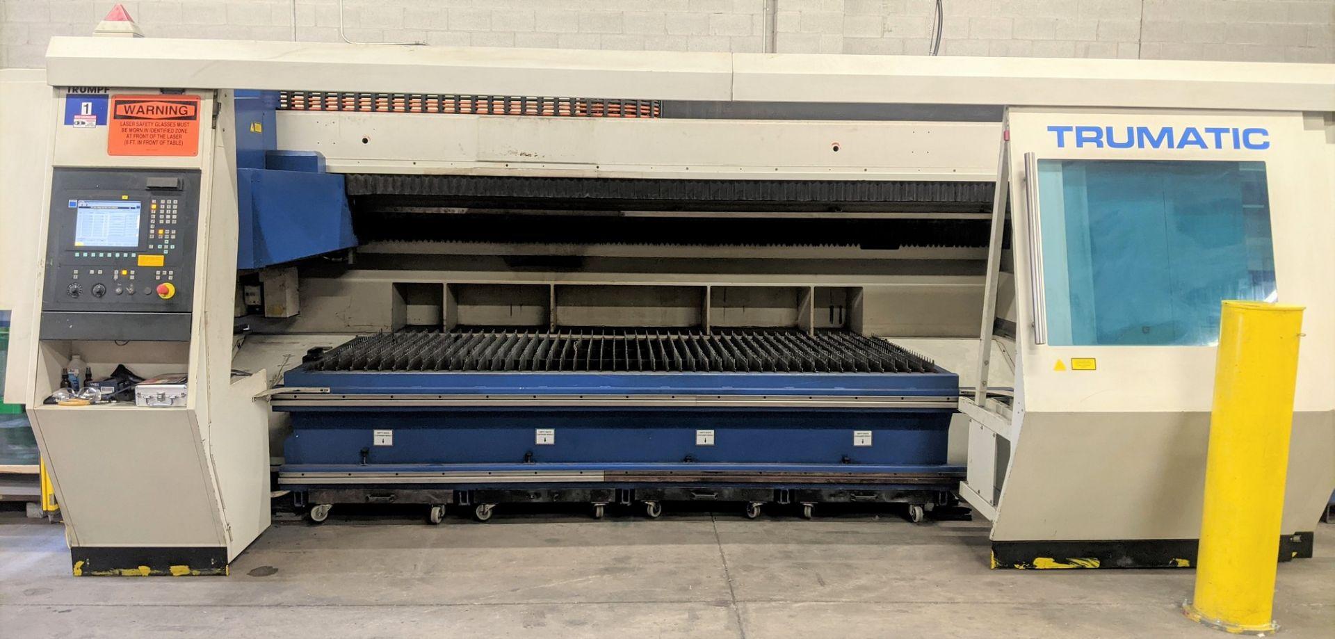 "2006 TRUMPF TRUMATIC L 2510 CNC LASER, 2,000 WATT, 4' X 10' TABLE, TRAVELS: X-120"", Y-50"", Z- - Image 8 of 32"