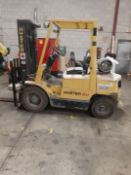 HYSTER H50XM PROPANE FORKLIFT, 5,000LB CAP., 3-STAGE MAST, SIDE SHIFT, APPROX. 3,445HRS (NO