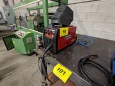 LINCOLN ELECTRIC MIG-PAC140 WELDER W/ MASK