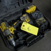 DEWALT 20 MAX XR CORDLESS DRILL DCD995 W/ (2) 20V BATTERIES, CHARGER AND CASE