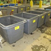 LOT OF (4) PLASTIC BINS ON CASTERS (CENTER NORTH PLANT)